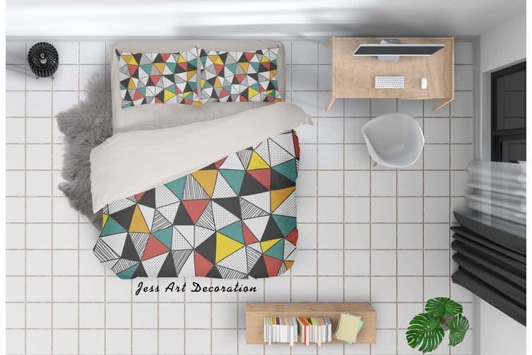 3D Color Geometry Pattern Quilt Cover Set Bedding Set Pillowcases 31-Single