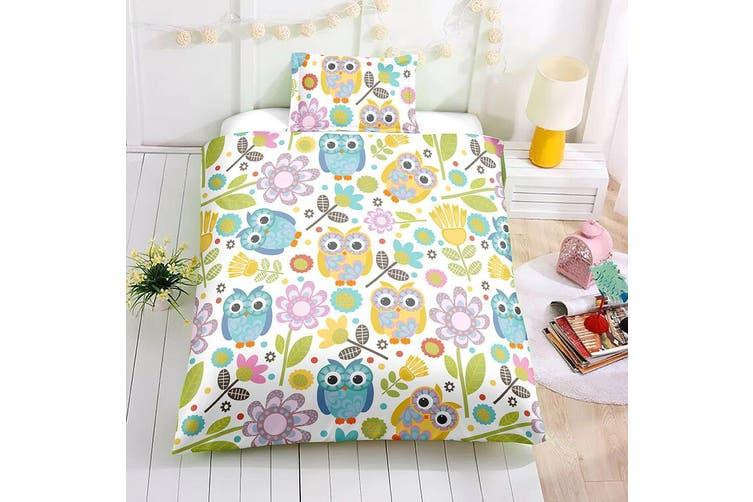 3D Cartoon Owl Quilt Cover Set Bedding Set Pillowcases 52-Queen