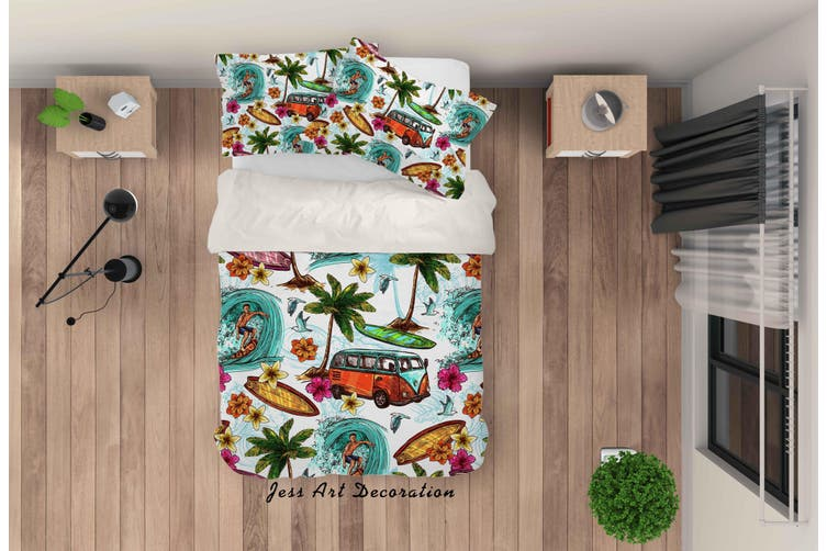 3D Hand Painted Holiday Quilt Cover Set Bedding Set Pillowcases 27-Single