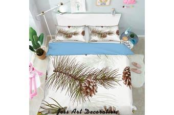 3D Color Pine Cone Quilt Cover Set Bedding Set Pillowcases 281-King