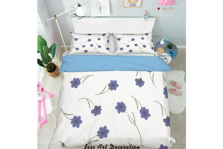 3D Flowers Pattern Quilt Cover Set Bedding Set Pillowcases 280-Double