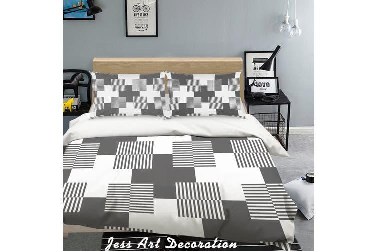 3D Black White Geometry Pattern Quilt Cover Set Bedding Set Pillowcases 279-Single
