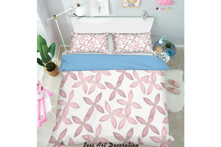3D Red Flowers Pattern Quilt Cover Set Bedding Set Pillowcases 276-Single