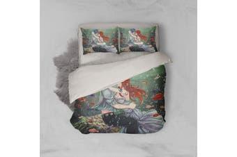 3D Anime Fairy Tail Quilt Cover Set Bedding Set Pillowcases 12-Single