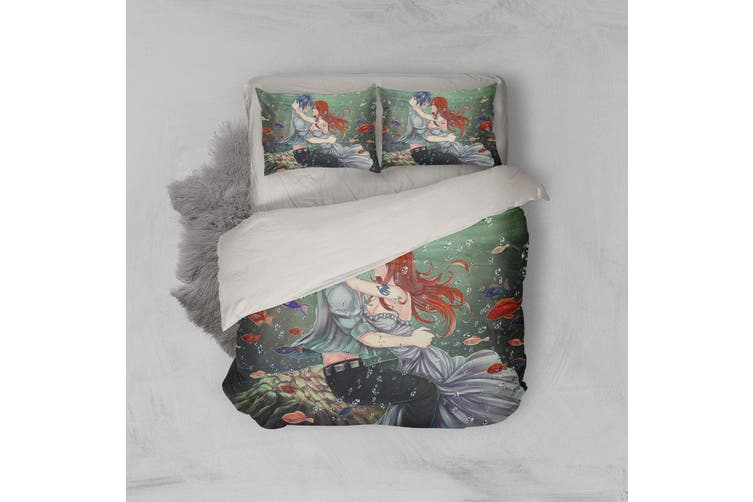 3D Anime Fairy Tail Quilt Cover Set Bedding Set Pillowcases 12-Queen