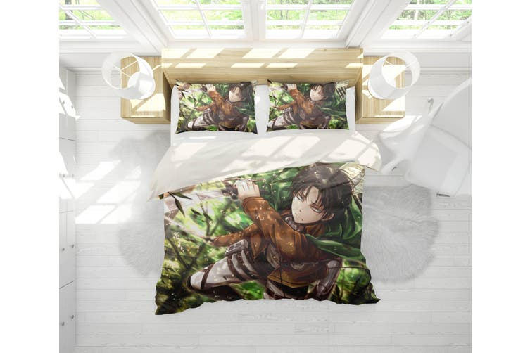 3D Anime Attack Giant Quilt Cover Set Bedding Set Pillowcases 11-Double