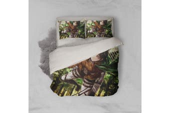 3D Anime Attack Giant Quilt Cover Set Bedding Set Pillowcases 11-Queen