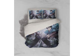 3D Anime Attack Giant Quilt Cover Set Bedding Set Pillowcases 10-Single