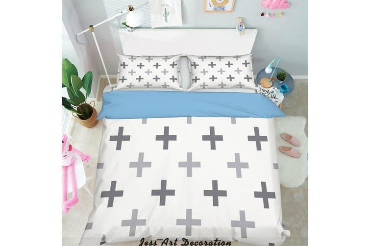 3D Black White Pattern Quilt Cover Set Bedding Set Pillowcases 274-King