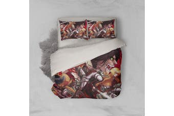 3D Anime Attack Giant Quilt Cover Set Bedding Set Pillowcases 09-King