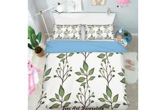 3D Green Leaves Pattern Quilt Cover Set Bedding Set Pillowcases 273-Single
