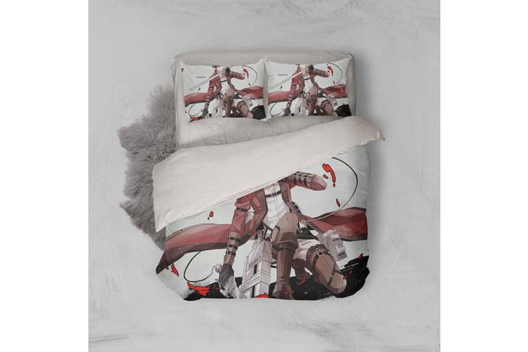 3D Anime Attack Giant Quilt Cover Set Bedding Set Pillowcases 07-Single