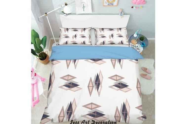 3D Color Diamond Quilt Cover Set Bedding Set Pillowcases 272-Single