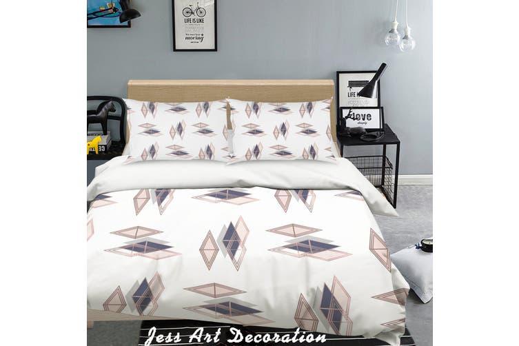 3D Color Diamond Quilt Cover Set Bedding Set Pillowcases 272-Queen