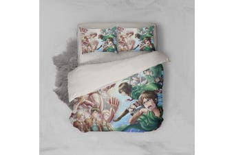 3D Anime Attack Giant Quilt Cover Set Bedding Set Pillowcases 05-King
