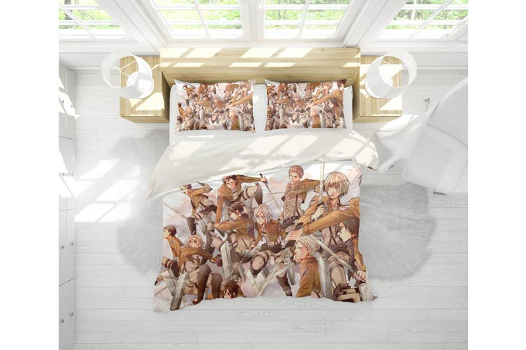 3D Anime Attack Giant Quilt Cover Set Bedding Set Pillowcases 78-Double