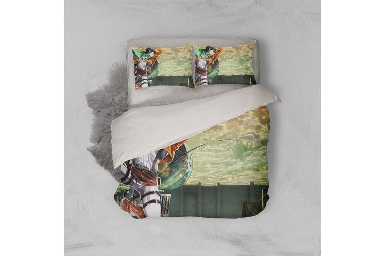 3D Anime Attack Giant Quilt Cover Set Bedding Set Pillowcases 74-Single