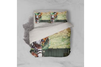 3D Anime Attack Giant Quilt Cover Set Bedding Set Pillowcases 74-King