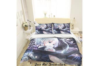 3D Touhou Project Quilt Cover Set Bedding Set Pillowcases 49-King