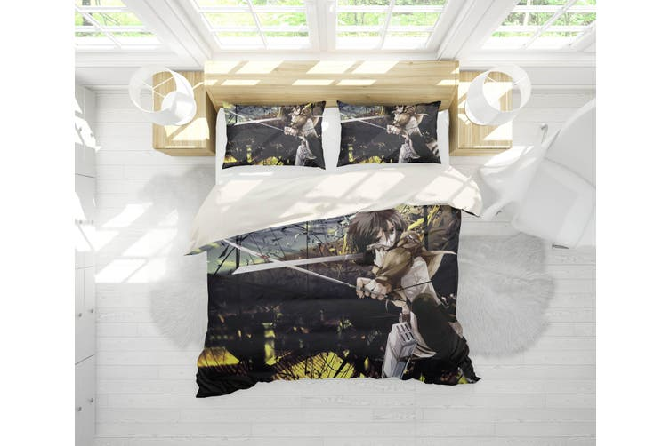 3D Anime Attack Giant Quilt Cover Set Bedding Set Pillowcases 71-Double
