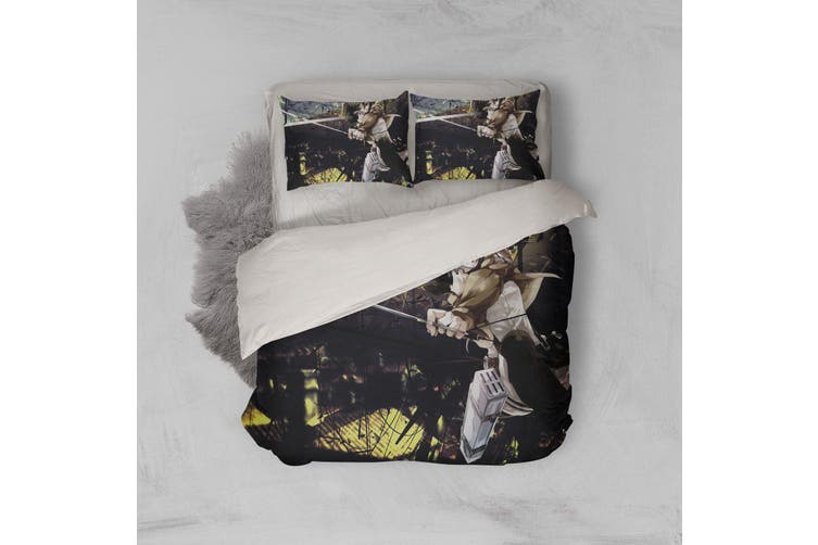 3D Anime Attack Giant Quilt Cover Set Bedding Set Pillowcases 71-King