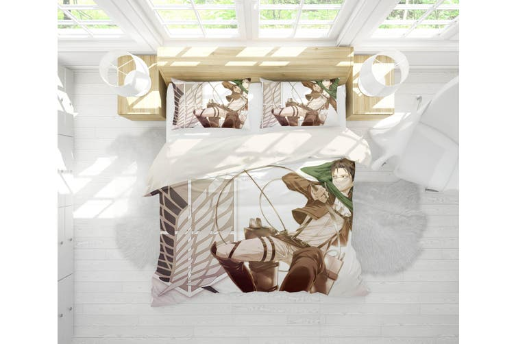 3D Anime Attack Giant Quilt Cover Set Bedding Set Pillowcases 67-King