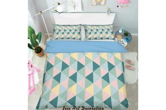 3D Color Triangle Geometry Pattern Quilt Cover Set Bedding Set Pillowcases  223-Single