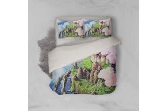 3D Anime Castle In Sky Quilt Cover Set Bedding Set Pillowcases 55-King