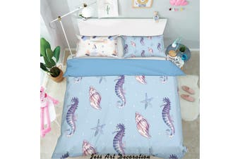 3D Color Cartoon Marine Animal Quilt Cover Set Bedding Set Pillowcases  220-Single