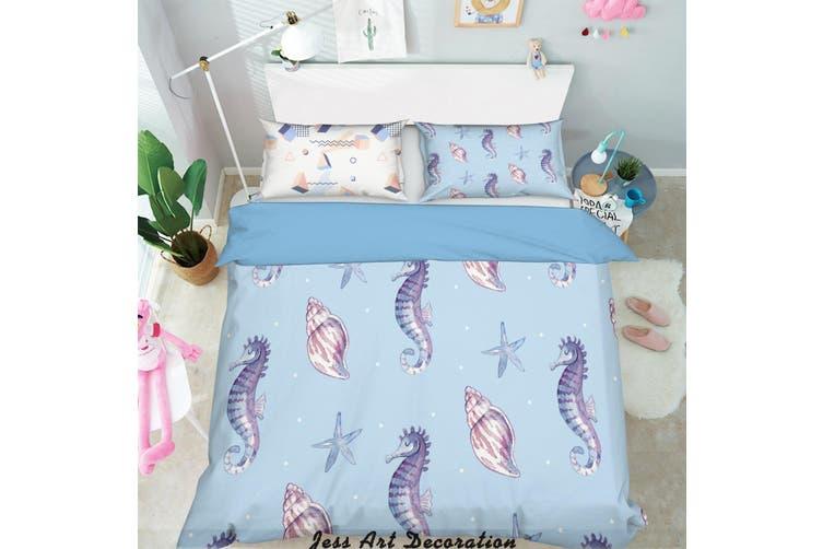 3D Color Cartoon Marine Animal Quilt Cover Set Bedding Set Pillowcases  220-Queen