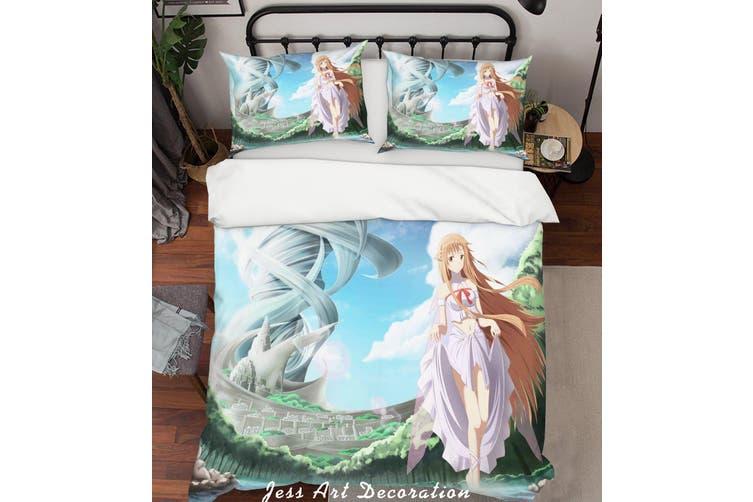 3D Sword Art Online Quilt Cover Set Bedding Set Pillowcases 146-King