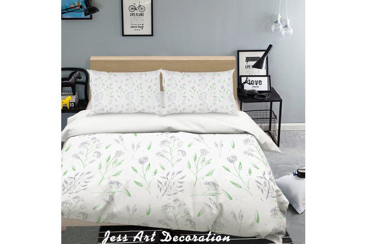 3D Green Leaves Pattern Quilt Cover Set Bedding Set Pillowcases  218-Single