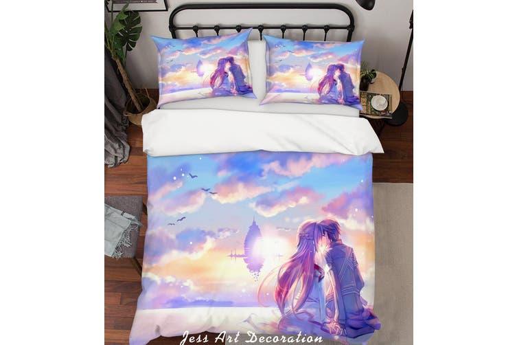 3D Sword Art Online Quilt Cover Set Bedding Set Pillowcases 144-Double