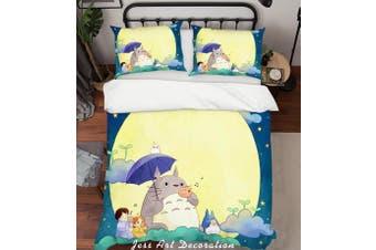 3D My Neighbor Totoro Quilt Cover Set Bedding Set Pillowcases 135-Queen