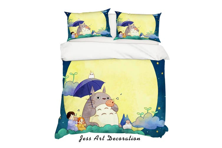 3D My Neighbor Totoro Quilt Cover Set Bedding Set Pillowcases 135-King