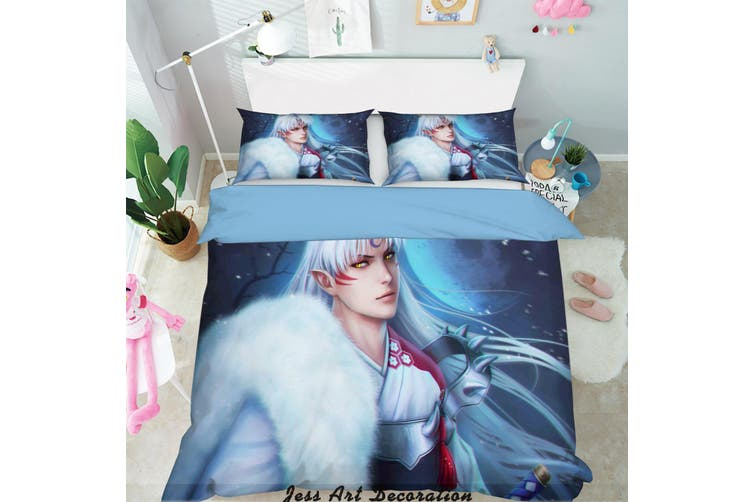 3D Inuyasha Anime Quilt Cover Set Bedding Set Pillowcases 134-Single
