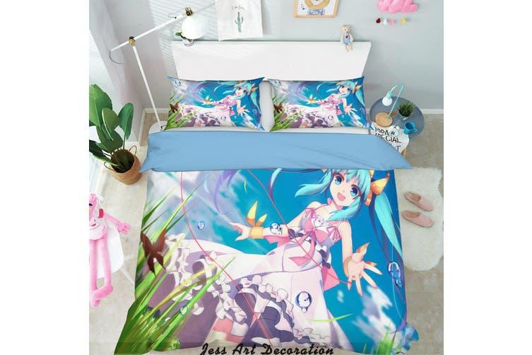 3D Hatsune Miku Quilt Cover Set Bedding Set Pillowcases 133-King