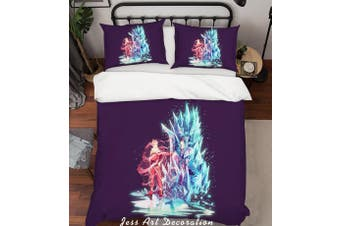 3D Fate Stay Night Quilt Cover Set Bedding Set Pillowcases 131-Single