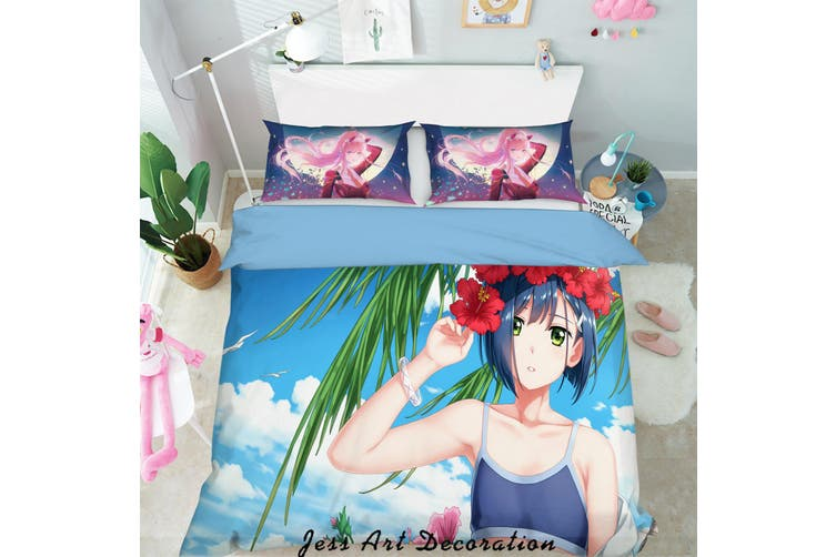 3D Darling in the Franxx Quilt Cover Set Bedding Set Pillowcases 86-Queen