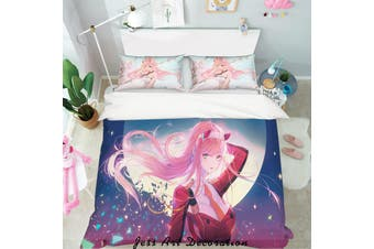 3D Darling in the Franxx Quilt Cover Set Bedding Set Pillowcases 85-Double