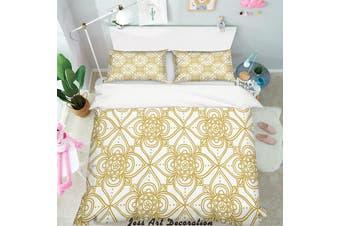 3D Gold Decorative Pattern Quilt Cover Set Bedding Set Pillowcases 154-Single