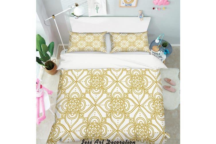 3D Gold Decorative Pattern Quilt Cover Set Bedding Set Pillowcases 154-Double