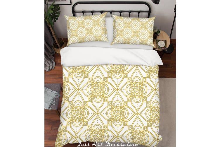 3D Gold Decorative Pattern Quilt Cover Set Bedding Set Pillowcases 154-Queen