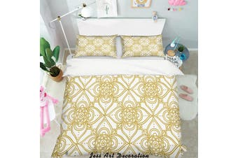 3D Gold Decorative Pattern Quilt Cover Set Bedding Set Pillowcases 154-King