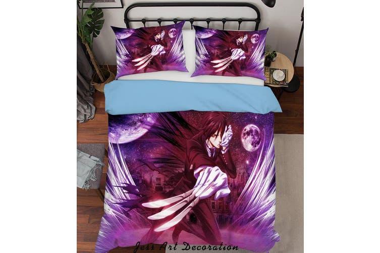 3D Black Butler Quilt Cover Set Bedding Set Pillowcases 83-Queen