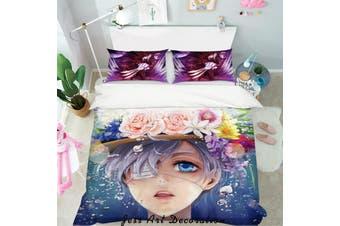 3D Black Butler Quilt Cover Set Bedding Set Pillowcases 82-Single