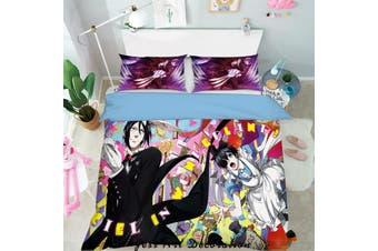 3D Black Butler Quilt Cover Set Bedding Set Pillowcases 81-King