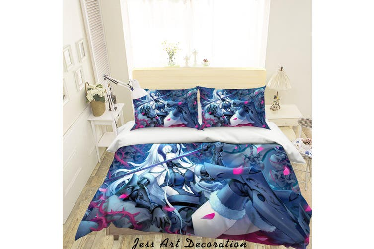 3D Fate Stay Night Grand Order Quilt Cover Set Bedding Set Pillowcases 16-Single