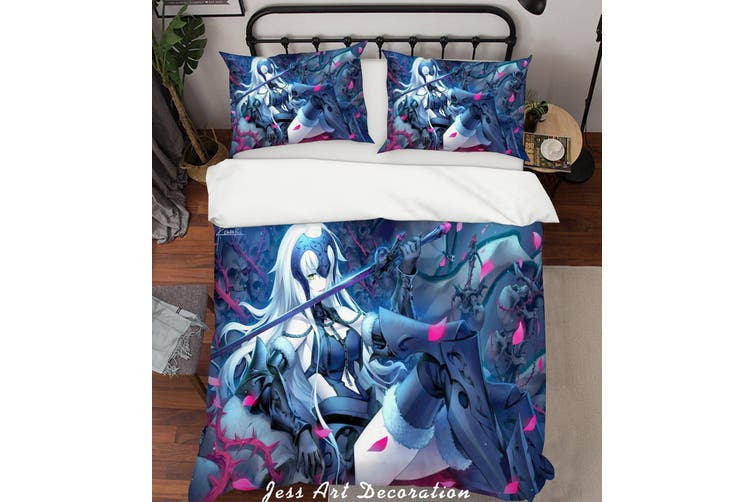 3D Fate Stay Night Grand Order Quilt Cover Set Bedding Set Pillowcases 16-Double