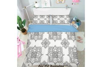 3D Black White Decorative Pattern Quilt Cover Set Bedding Set Pillowcases 152-Single